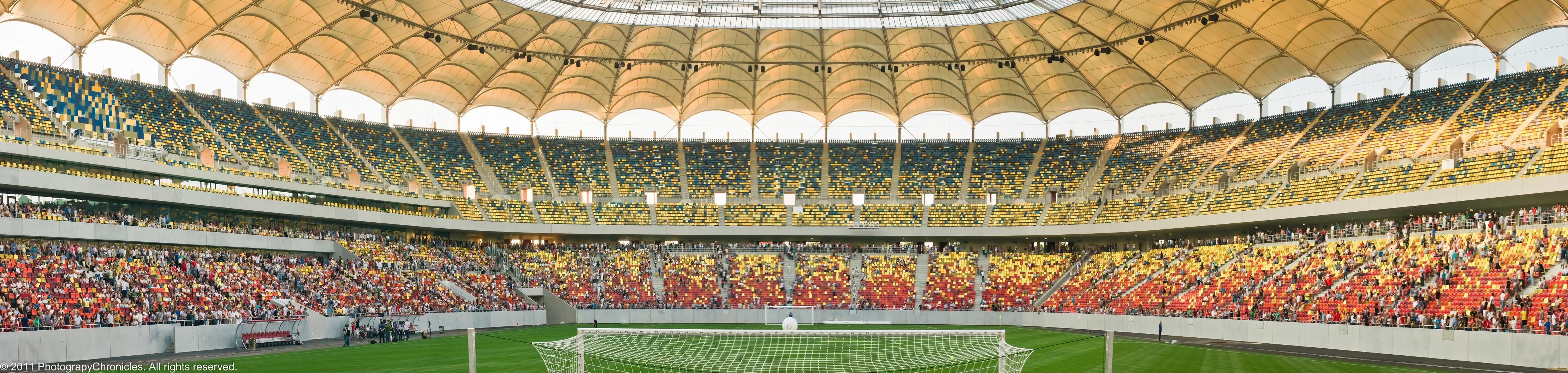 Football stadium panoramic pictures