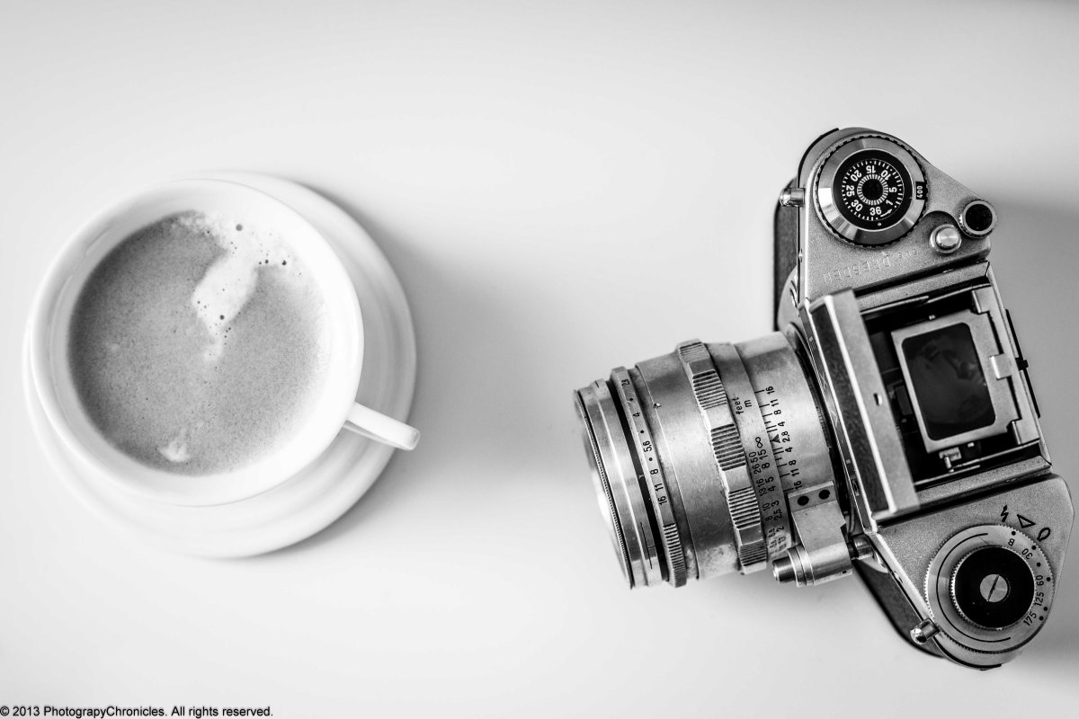 Coffee and Photography - BW