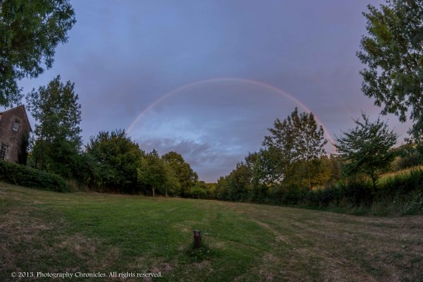 Fisheye rainbow