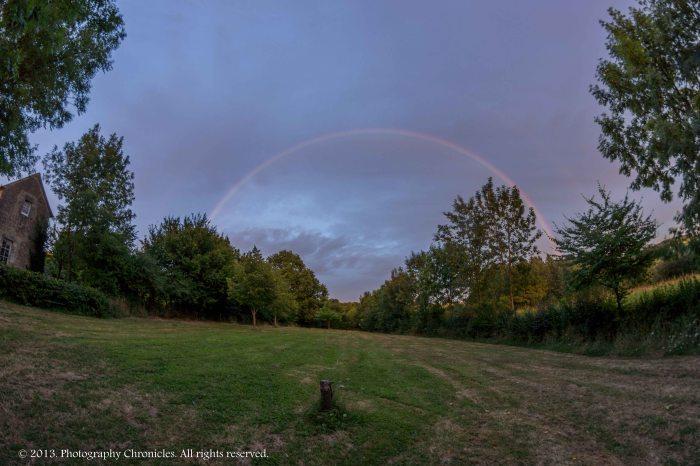 Fisheye rainbow
